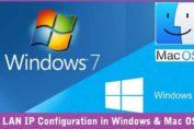 LAN IP Address Configuration in Windows and Mac PC