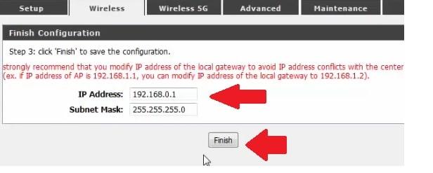 d'link ac750 IP address change