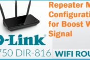 D-Link AC750 Dual Band repeater mode setup