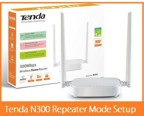 Tenda N300 Repeater Mode Configuration Step by Step