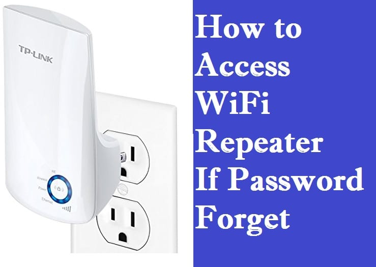 How to find the Extender WiFi network password