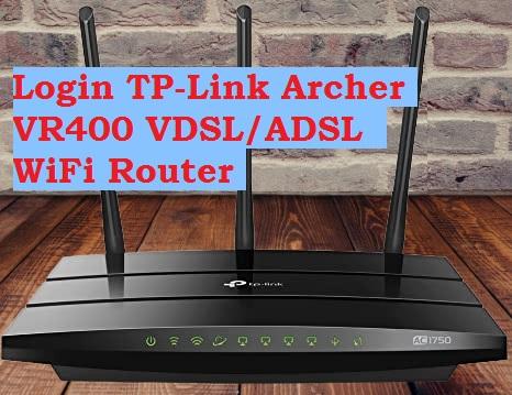 login TP-link VR400 ADSL
