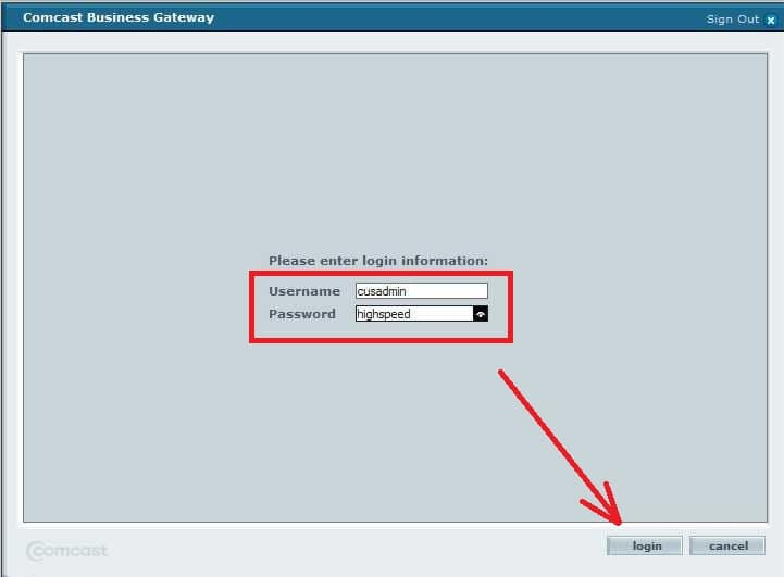 comcast business login
