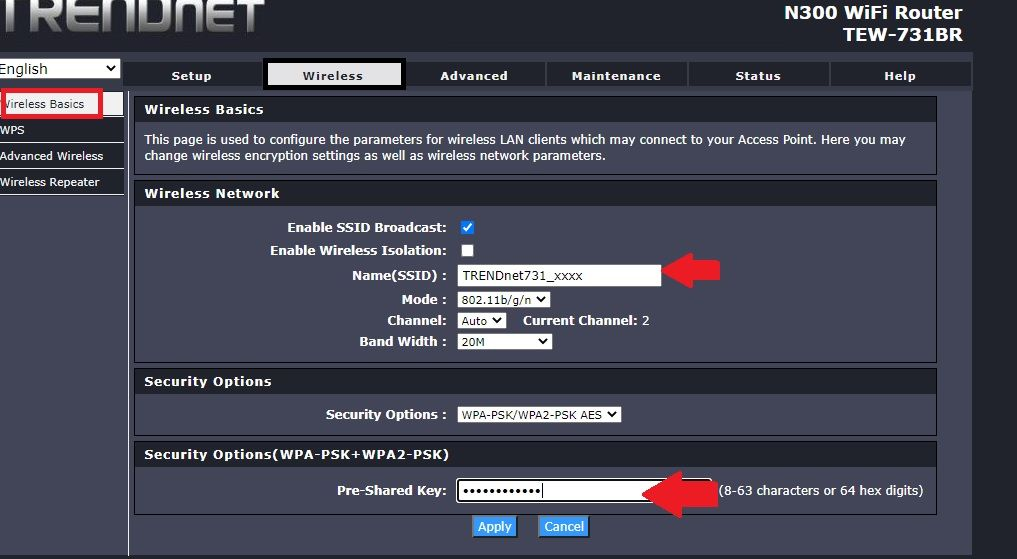trend net wifi ssid and password