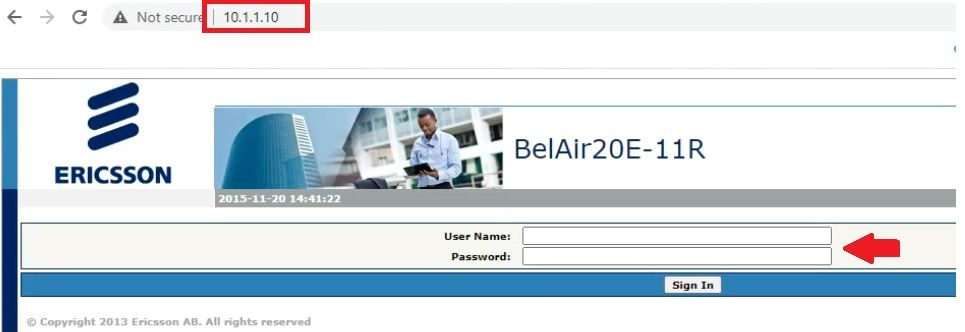 belair networks login