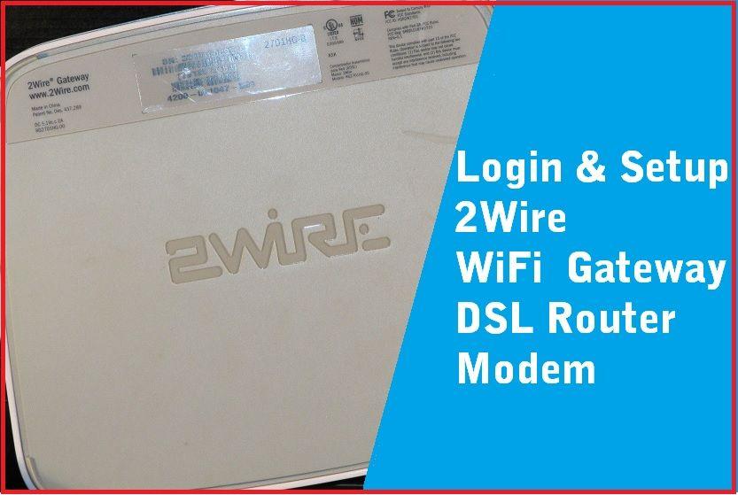 login and setup 2wire modem 192.168.l.254