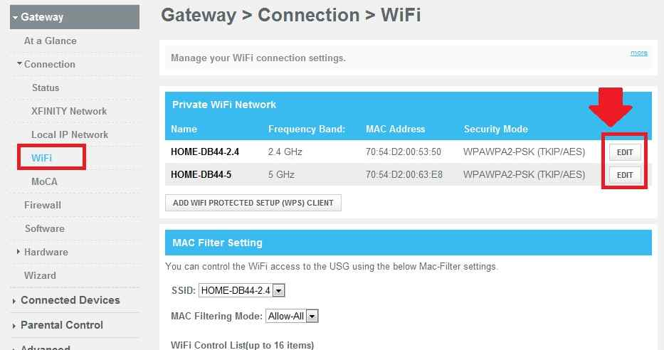 Change Your WiFi Network Name and Password