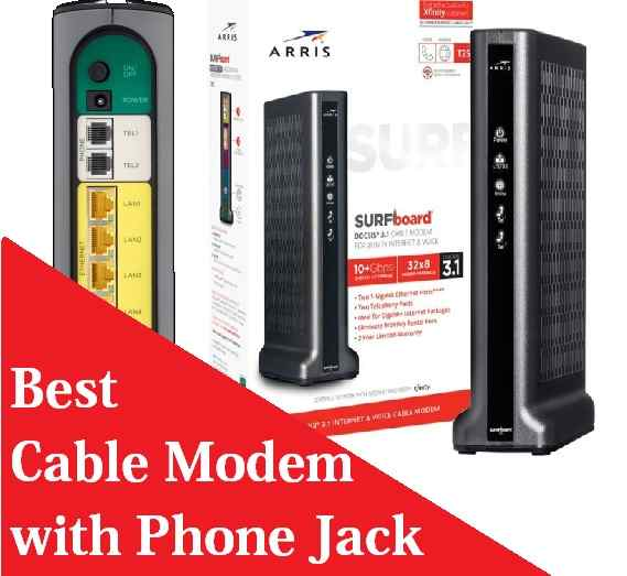 cable modem router with phone jack