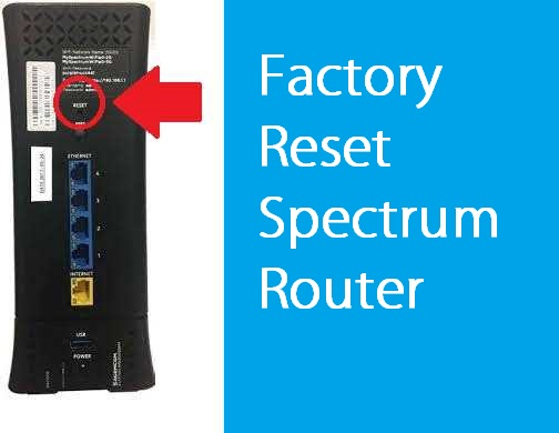 how to reset a spectrum router