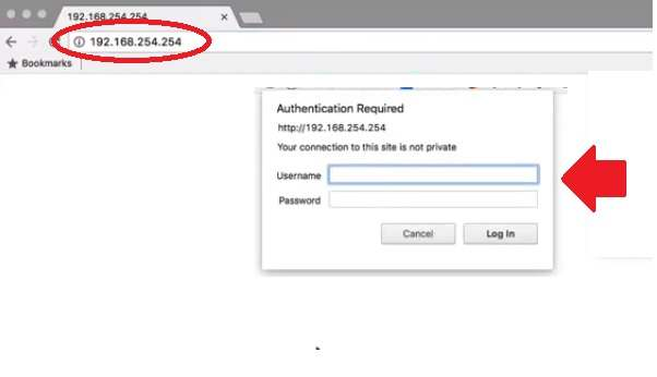Windstream Router Login With the Default IP 192.168.254.254