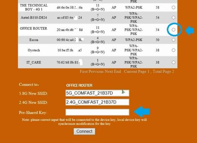 comfast 1200 outdoor wifi range extender setup